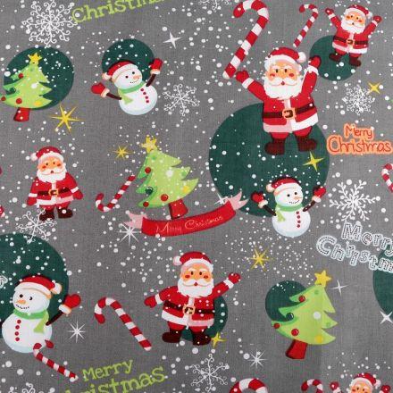 Metráž: Vánoční bavlněná látka šíře 160 cm (1m)