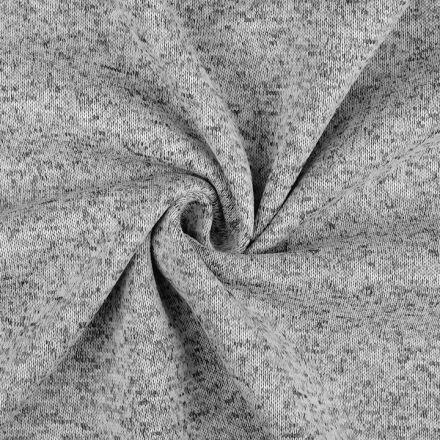 Metráž: Svetrovina melír - šedá
